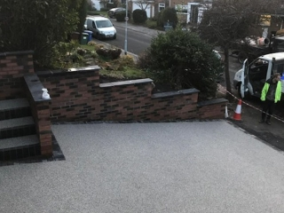 New Resin Bound Driveway and Steps