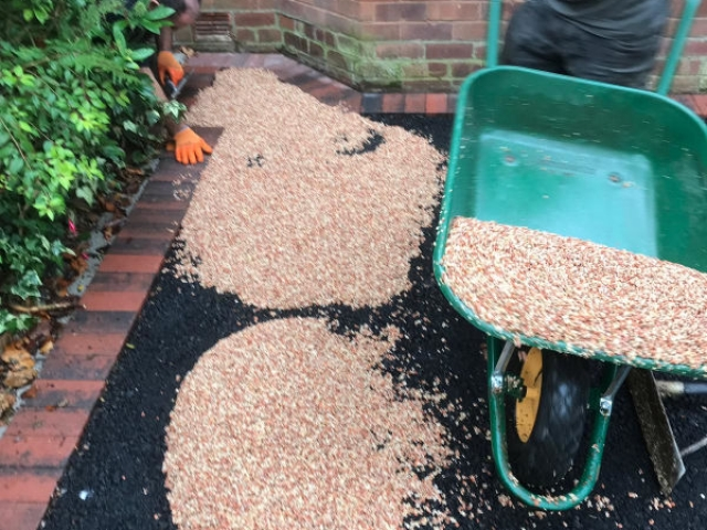 Resin Bound Driveway being laid in Sale, Manchester