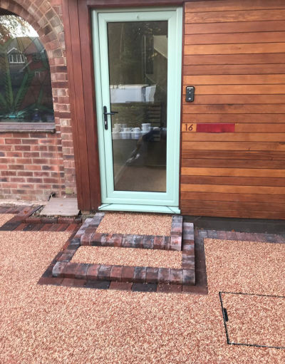 Resin Driveway and step