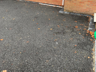 Resin Bound Driveway being laid in Offerton, Stockport