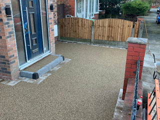 New resin bound driveway in Urmston