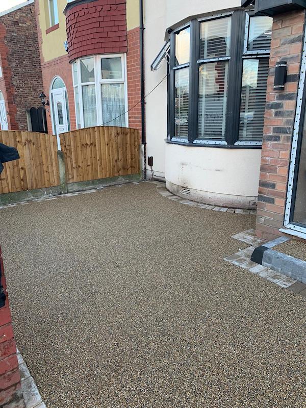 New resin bound driveway in Urmston