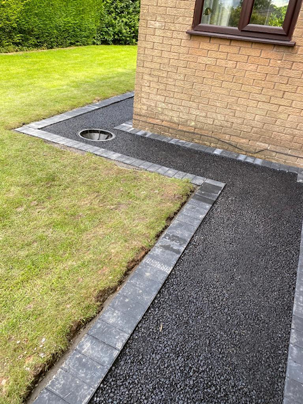 Resin Bound Driveway being laid in Heaton Mersey