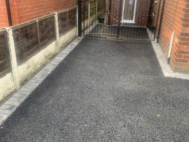 Resin Bound Driveway being laid in Gatley area of Stockport