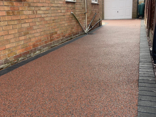 New resin bound driveway in Hartford Northwich laid by New World Resin Driveways