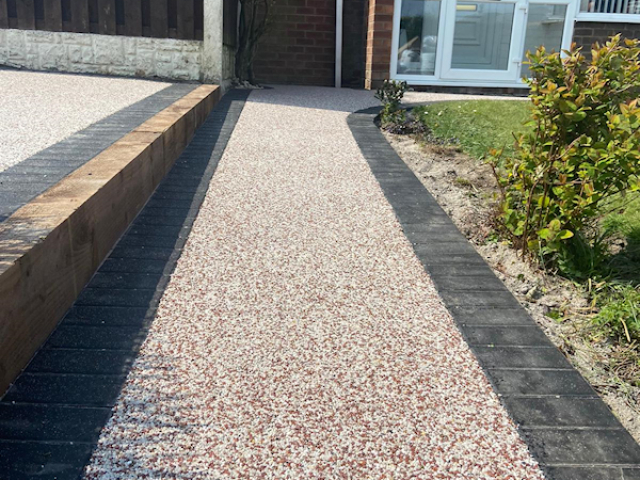 New resin path Tyldesley Manchester